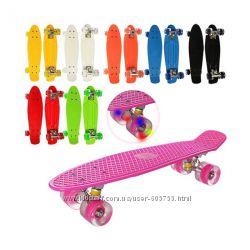 Скейт Пенни Борд - penny board с светящимися колесами