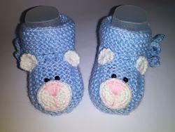 Пинетки , носочки , для новорожденных медвежата