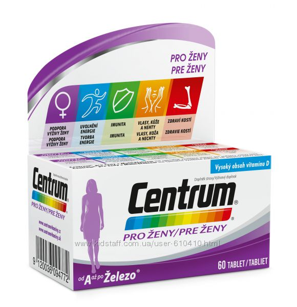 Витамины для женщин Centrum