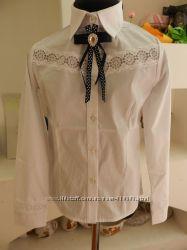 Нарядные школьные блузки на девочек. Рост 134-146