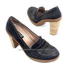 Новые Шикарные кожаные туфли лоферы Еcco Оригинал рр.40, 41