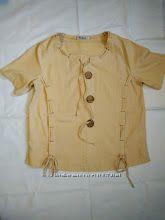 Льняная футболка-блузка Evela размер М