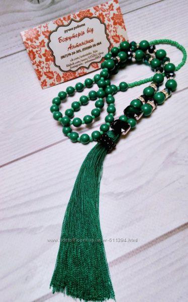 Эксклюзивный зеленый сотуар с кисточкой