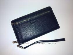Барсетка-кошелек Karya 0705-44 кожаная синяя мужская
