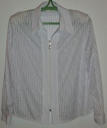 Блузка белая на молнии SANTEX - р. 52-54 ОГ 118 см