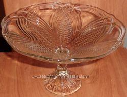 Ваза стекло для конфет, фруктов, сладостей СССР диаметр 24. 5 см