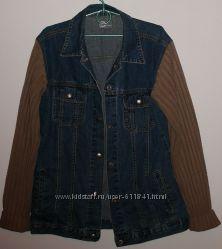 Куртка пиджак джинсовая CASUAL CLOTHING р. 48 M - ОГ 100 см