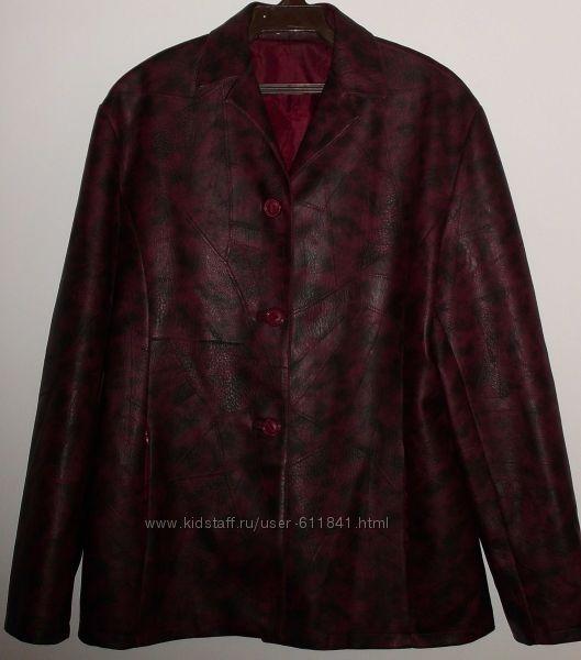 Куртка пиджак Jessy Line искусственная кожа р. 48 ОГ 100 см