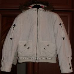 Куртка теплая белая с капюшоном GLORIA р. 48 ОГ 106 см
