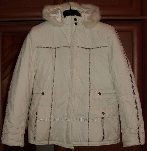 Теплая куртка капюшон зима QIPA Sport Collection р. 46-48 ОГ 100 см