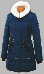 Пуховик куртка парка теплая 52-54 ОГ 118 см