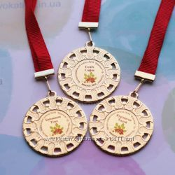 медали металлические для выпускников, дипломы, подяки