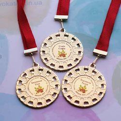 медали металлические для выпускников детского сада, дипломы, подяки