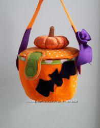 Сумка-тыква на хеллоуин
