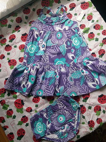 Платье-сарафан  с трусиками Wonderkids на годик