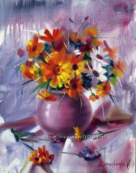 Картина маслом Букет Микс