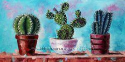 Картина маслом кактусы