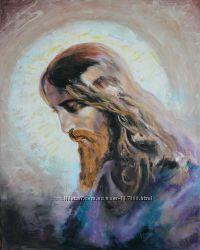 Картина написана маслом на холсте Иисус