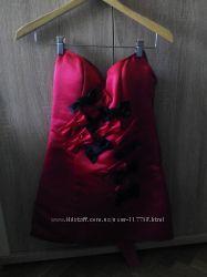 Модное платье бюстье с бантами Asos