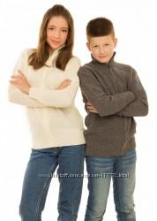 Теплые и мягкие кофты на молнии для мальчиков и девочек, полушерсть