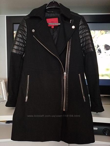 Стильное байкерское пальто Mango XS