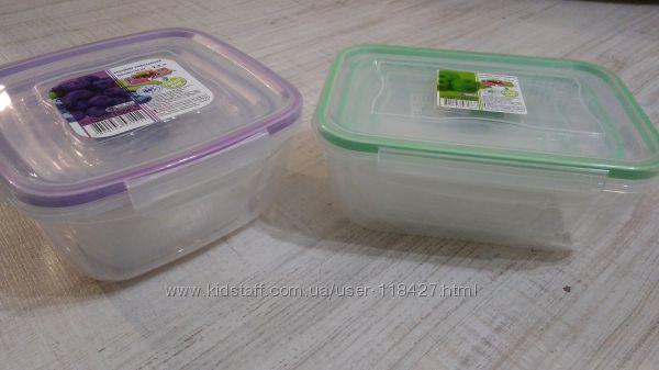 Судочки пластиковые на четырех зажимах