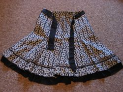 Чёрно-белая  юбка
