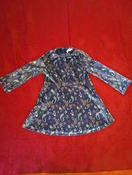 Нарядное велюровое платье Зара 5 лет