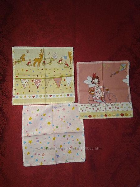 носовые платочки ясельные и детские