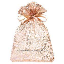 Золотистый подарочный мешочек из органзы от Yves Rocher - или обмен