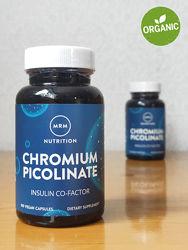 MRM, Пиколинат хрома, поддержка уровня сахара в крови, 200 мкг, 100 капсул