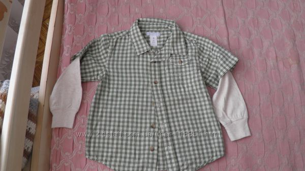 Рубашки фирменные на 3-4 года распродажа