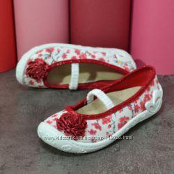 польские текстильные туфельки тапочки на девочку р 26 27 28 29 31  3f 3ф