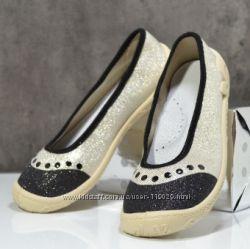 текстильные туфли  тапочки слипоны для девочки р 31, 33, 35, 36 3F Польша