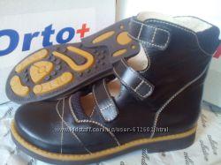 ce4e6a426 Ортопедические туфли в школу Орто плюс А-862, черные ортопедические туфли