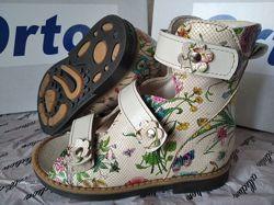 Ортопедические босоножки Орто плюс для девочек, ортопедические сандал