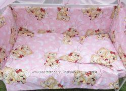 Детский постельный комплект, белье 9 предметов