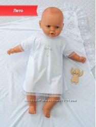 Одежда для крещения,  крестильный набор - рубашка и крыжма
