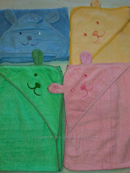 Детское махровое полотенце с уголком  Ушки