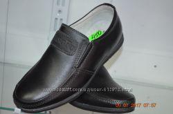 кожаные школьные туфли с 33 по 35рр