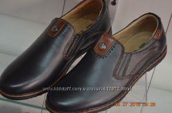 кожаные туфли KANGFU с 31 по 36рр синие и черные