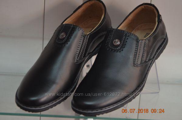 кожаные туфли KANGFU с 31-36рр черные