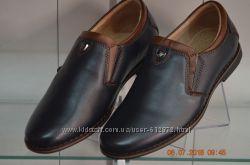 кожаные туфли KANGFU с 31 по 36рр синие