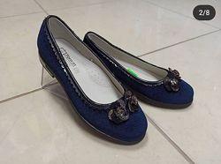 замшевые, велюровые туфли ТОМ. М 32-35рр синие