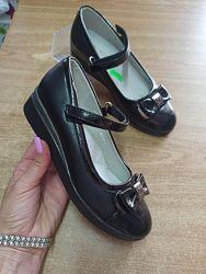 туфли на лямочке с 32-37рр черные