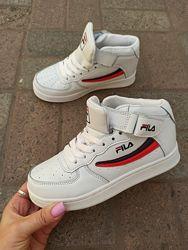 белые деми кроссовки с 34-36р