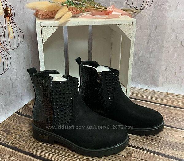 суперские деми ботинки 35,37рр