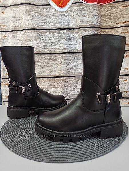 зимние ботинки  шерсть  34-36рр