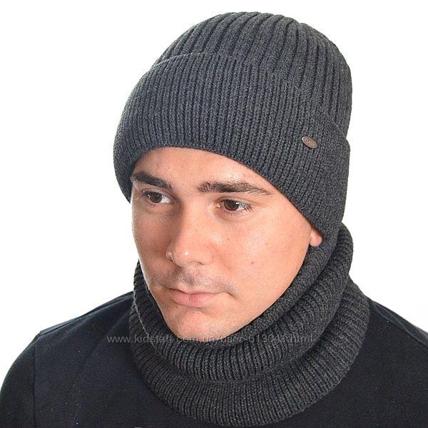 Комплект шапка и снуд на флисе 56-58