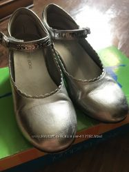 Туфли Jumping jacks серебро на каблучке